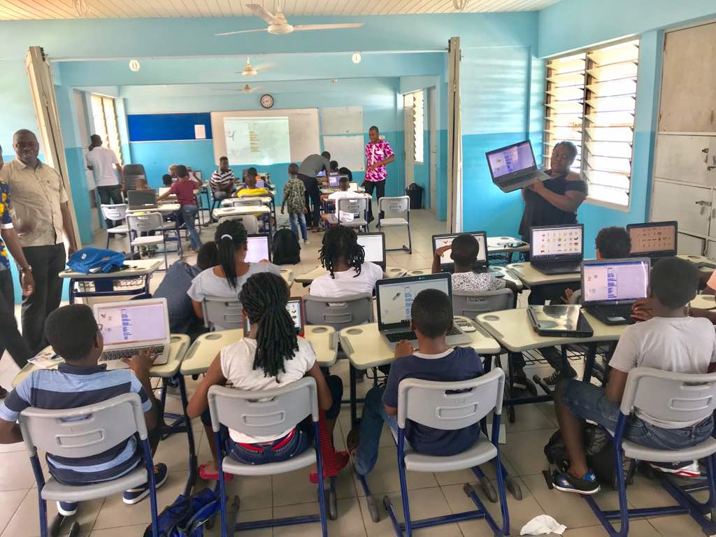 IIPGH First Coding Class at East Airport International School